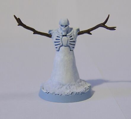 The First Christmas Themed Necron/Snow-cron Flayed One I Made in 2011.