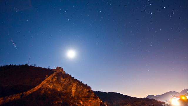 Juyongguan Great Wall under Stars, by Tim Wang