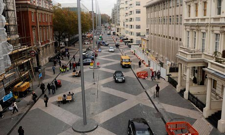 Exhibition Road, London, repavement project