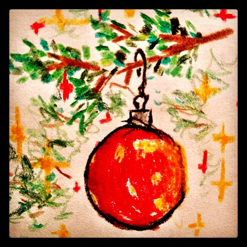 My son is illustrating for me. #christmas