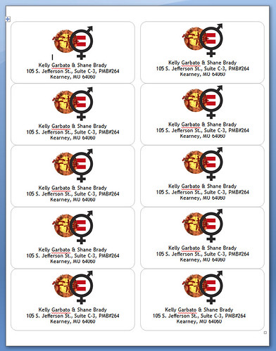 2011 FSmas Cards - Return Labels