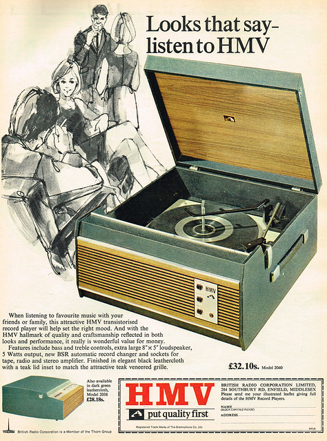 Vintage Ad #1,787: Looks that say - listen to HMV