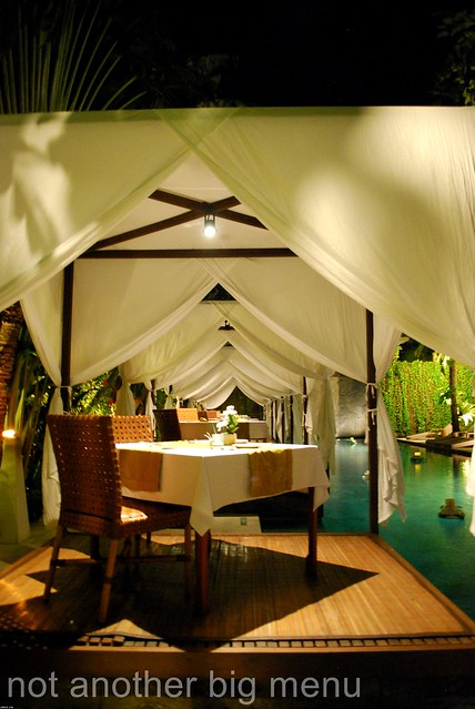 The Elysian, Bali - Pool in the evening