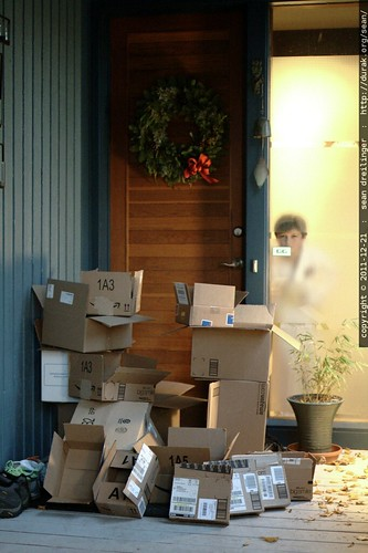how can you still believe in santa claus with this many boxes suddenly appearing on the doorstep the week before xmas?    MG 5986