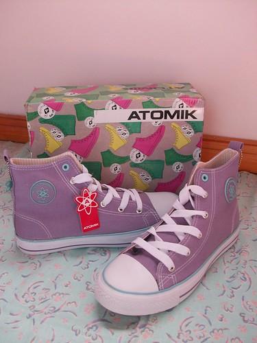 lavender atomik sneakers
