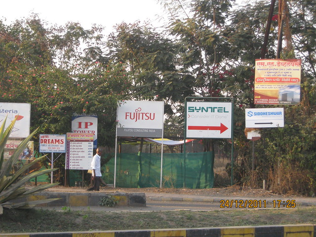 Syntel and other IT companies in Talawade IT Park - Visit to Kushal Swarnali Township, 1 BHK & 2 BHK Budget Flats at Chakan, Pune 410 501