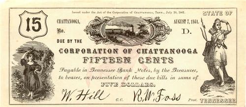 $0.15 G-1297 Corporation Chattanooga 1861 2