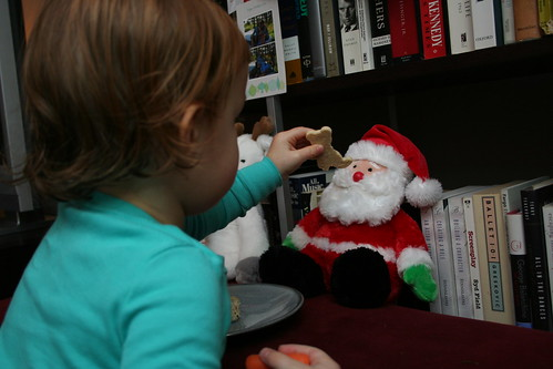 Giving Santa a cookie