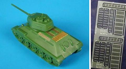 Hauler T-34 Tank Photoetch Details