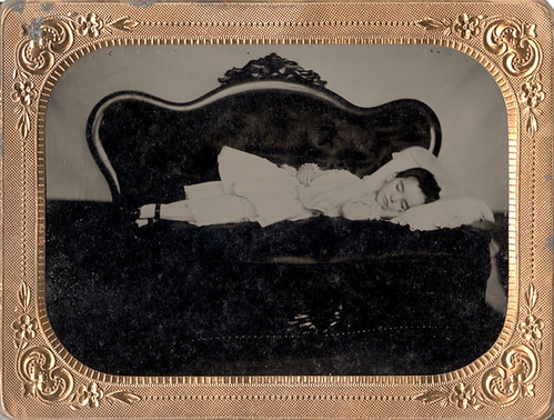 Is She Only Sleeping? - Quarter Plate Cased Tintype by Photo_History