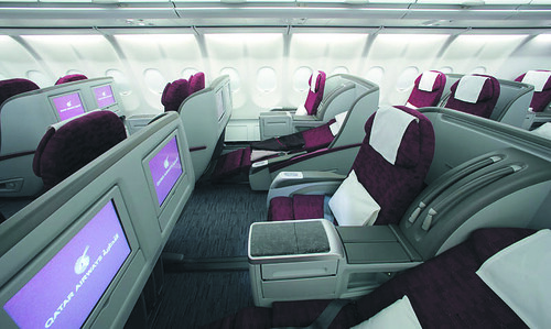 A340-600 Bus Class Seats