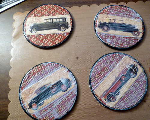 Mod Podged Car Coasters