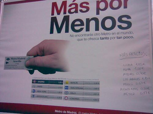 metro tetuán madrid - más por menos