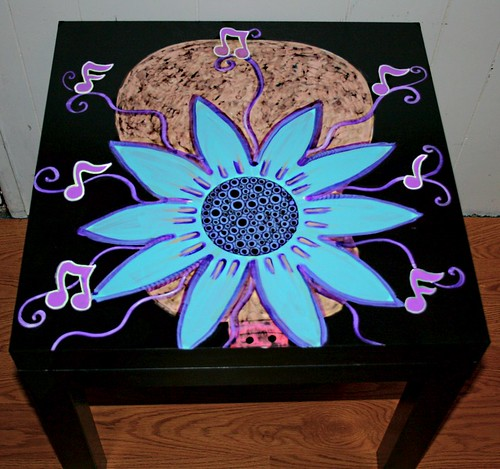 Blooming Guitar Table  by Rick Cheadle Art and Designs