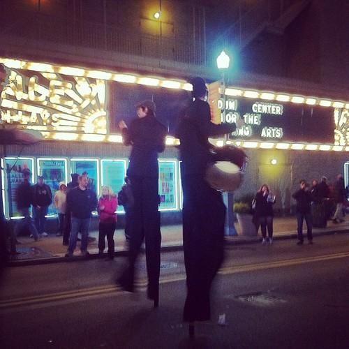 Steel City Stilt Band: an eight piece samba band, on stilts. Obviously.