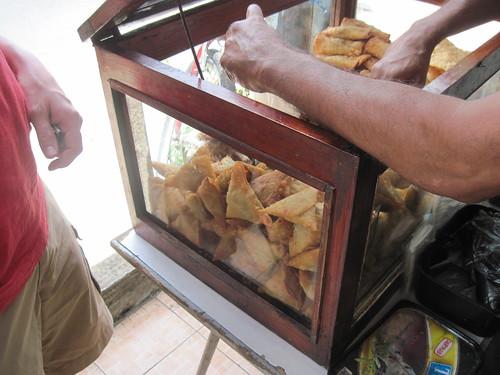 Samosa From Street Food Vendor in Chemin Grenier