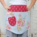 blue floral half apron