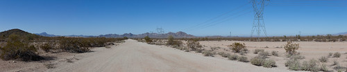 sky panorama day desert powerlines dirtroad dust sights creosote toinfinityandbeyond