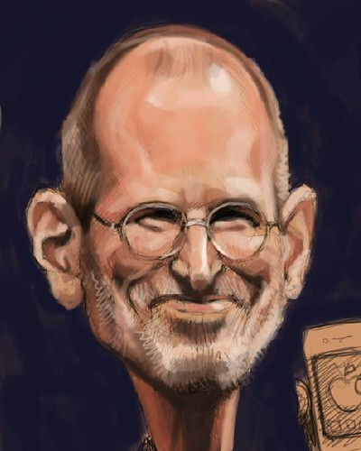 digital caricature of Steve Jobs - 1