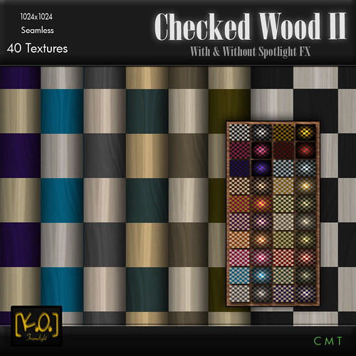 [K.O.] - Checked Wood II - 40 Textures by Khan Omizu