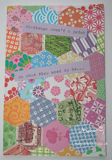 Patchwork birthday card made for me!