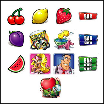 free Dr. M. Brace slot game symbols