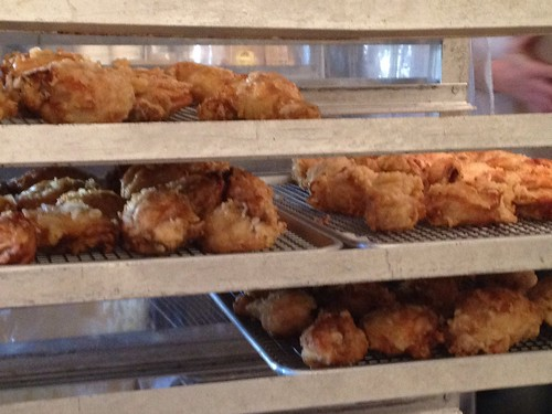 Fried Chicken on the Rack at Federal Donuts