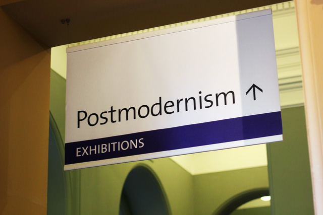 v&a postmodernism sign