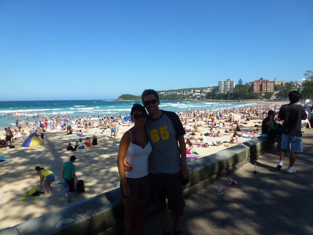 Not the best picture of us on Manly Beach