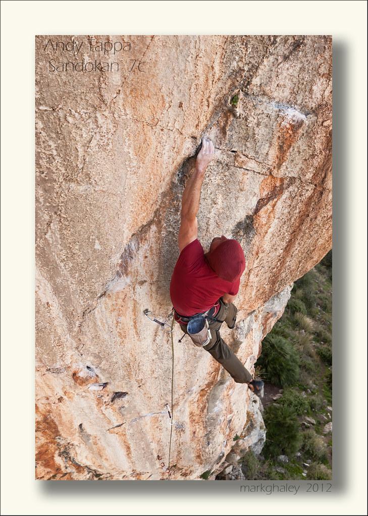 Rock climbing, El Chorro, Spain