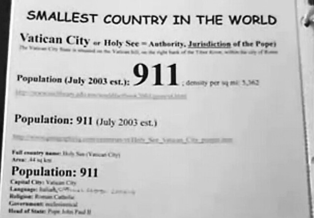 911_Vatican_City_Population_2003