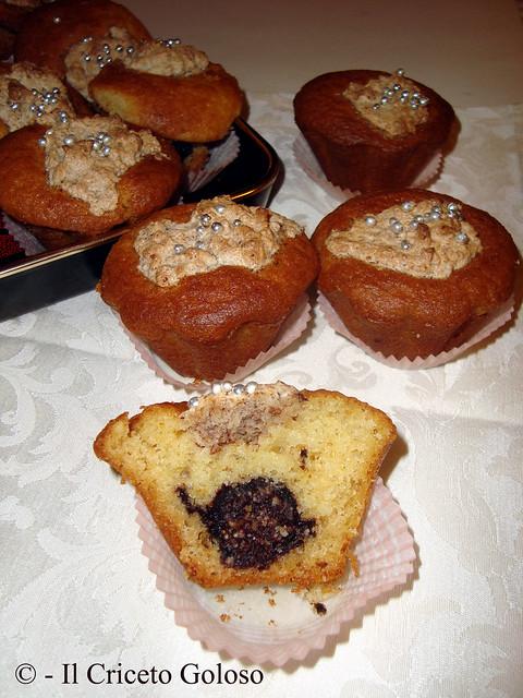 Muffins ripieni di baci