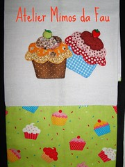 Pano de Prato Cupcake