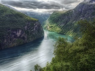 Norway - The Geiranger fjord HDR -