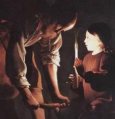 Georges de La Tour (1645), Jesús y San José en el taller