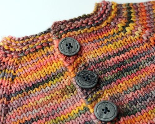 Primavera Euclid- Hand Knit Wool Cardigan - 0/6 MONTHS