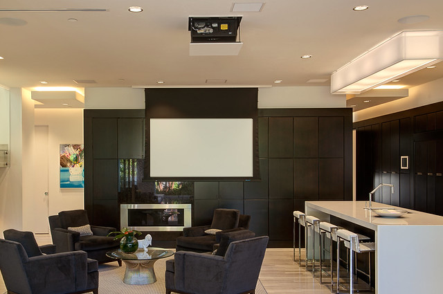 Living Room Screen Projector Flickr Photo Sharing