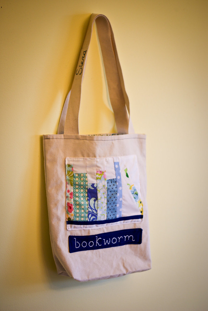 Bookworm library tote