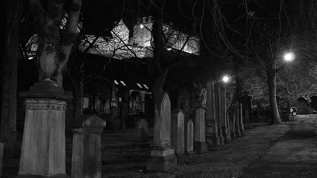 nocturnal boneyard and Edinburgh Castle