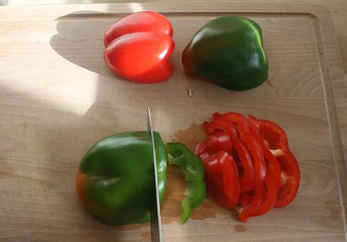 13 - dissipate paprika / Paprika in Streifen schneiden