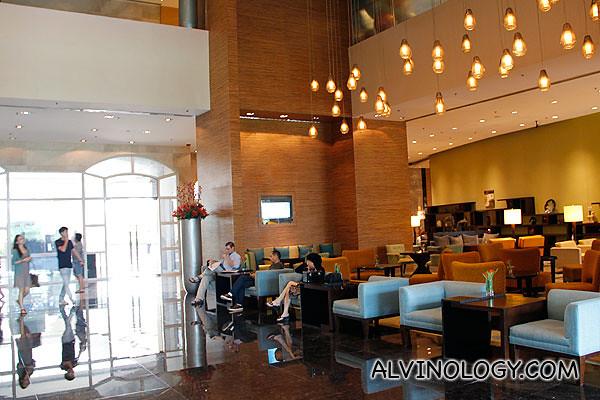 Marriot Hotel lobby
