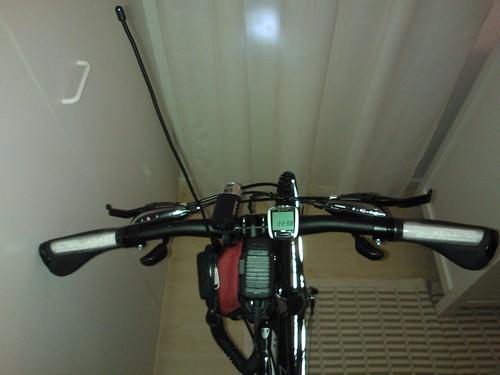 Yaesu VX-8 VHF/UHF/APRS bike setup 1