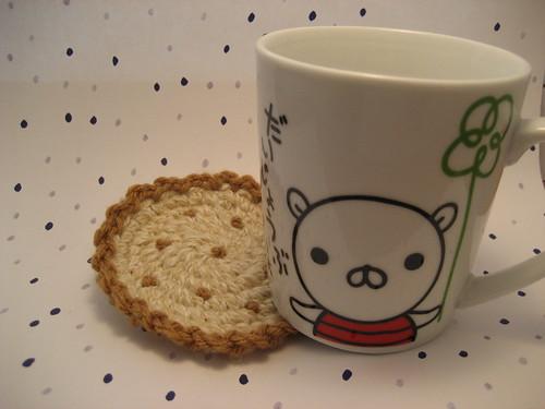 vanilla biscuit coaster