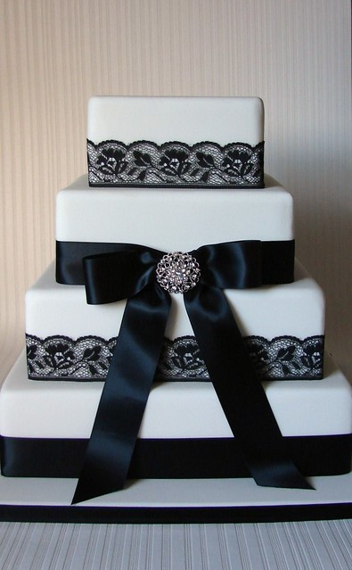 Simple Vintage Elegance 4tier wedding cake