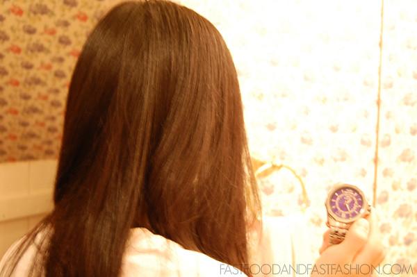 dried hair