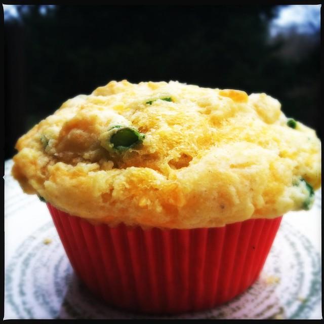 Onion Cheddar Corn Muffin