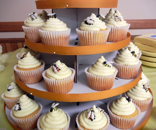 bee cupcake tower
