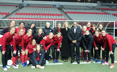 U.S. Women's Soccer team in Vancouver