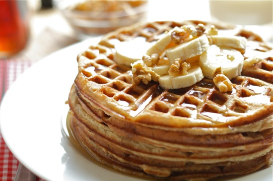 Whole Wheat Banana Bread Waffles Final 3