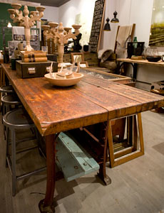 industrial work bench island